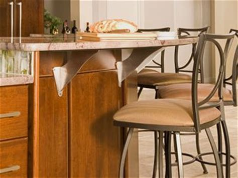 granite breakfast bar with alpine brackets welcome home