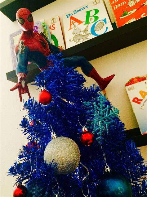 miniature spider man christmas tree  boysof  ages