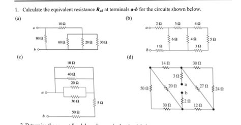 Solved Calculate The Equivalent Resistance Termin