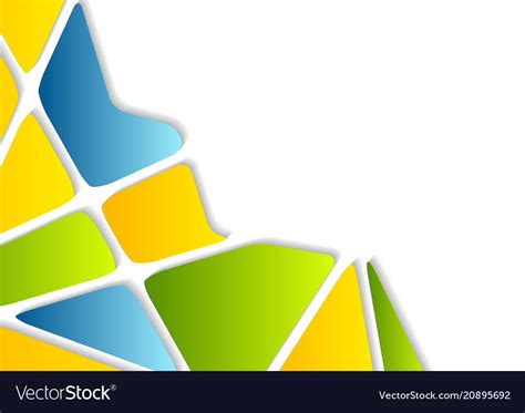 Abstract Colorful Geometric Shapes by Colorful Geometric Shapes Abstract Background Vector Image