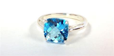 blue topaz ring sterling silver 30 annivary