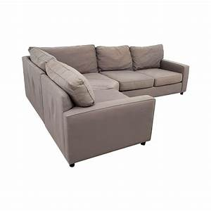 90 off pottery barn pottery barn grey sectional sofa for Pottery barn sectional sofa dimensions