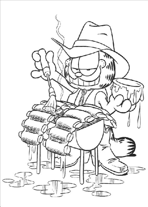 Barbeque Kleurplaten by Coloring Page Garfield Barbecue Coloring Me
