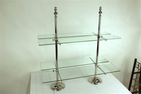 Entertaining Etagere by Pair Of Grand Serving Etageres Glass Shelving For