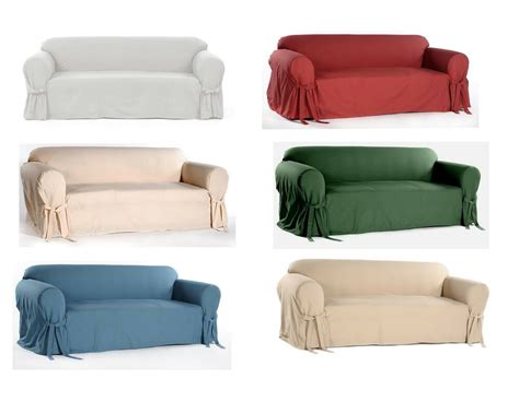 Loveseat Armchair by 100 Cotton Washable Solid Bow Tie Arm Slipcover