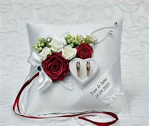 personalized wedding ring cushion pillow with rings holder With wedding ring holder pillow
