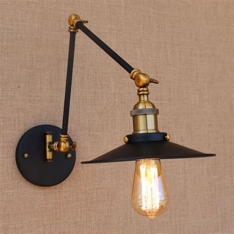 iron brass retro loft loft style industrial wall light ヾ