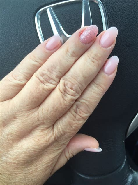 light pink almond shaped acrylics yelp