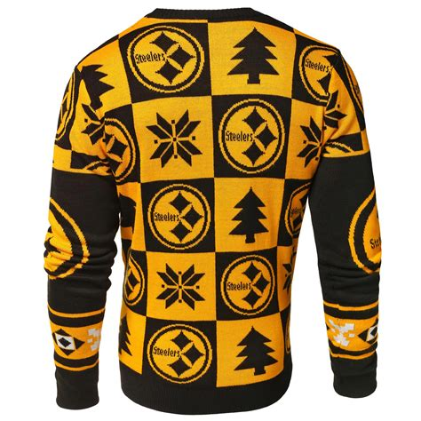 steelers sweater pittsburgh steelers nfl 2016 patches crewneck sweater
