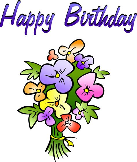 free birthday clipart birthday flowers clipart clipart panda free clipart images
