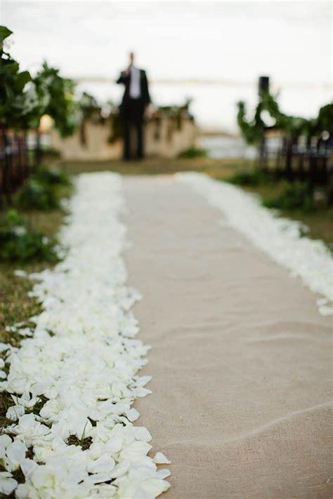 runners wedding  rose petals  pinterest