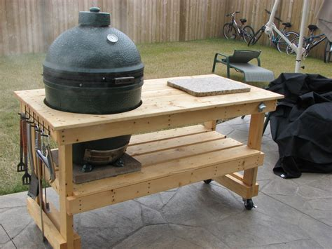plans for large green egg table diywoodtableplans ideas wood projects