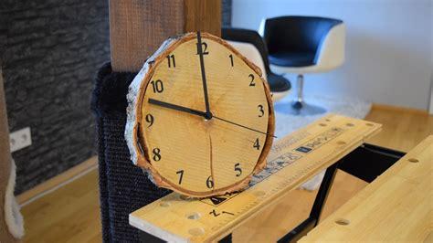Diy Wood Clock. Uhr Selber Bauen. Eine Wanduhr Aus Holz