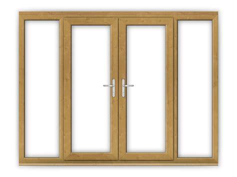 5ft oak upvc doors with wide side panels