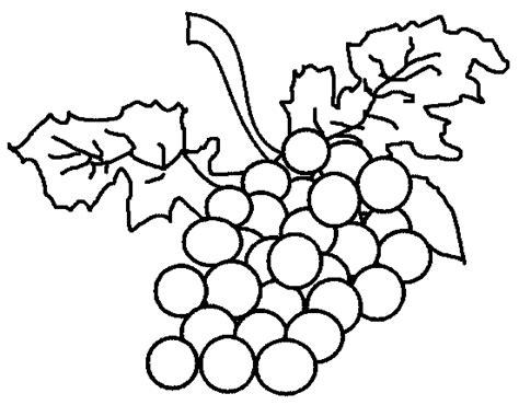 Grape Fruit Coloring Pages