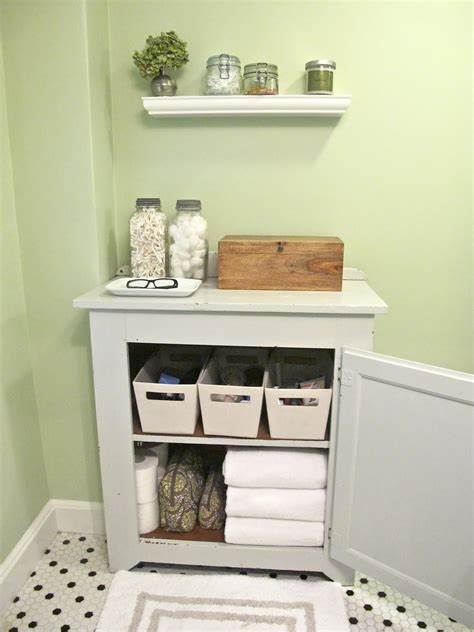 Storage Ideas For Small Bathrooms With No Cabinets by And Vintage Diy Small Bathroom Tissue Towel And Box