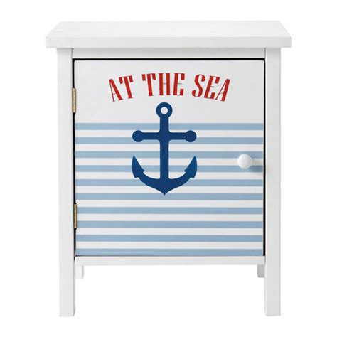 le de chevet pirate table de chevet enfant blanche l 40 cm pirate maisons du monde