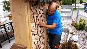 Grillen Im Garten Abstand Zum Nachbarn : video sichtschutz aus brennholz bauen so sch tzen sie sich vor neugierigen blicken ~ Frokenaadalensverden.com Haus und Dekorationen