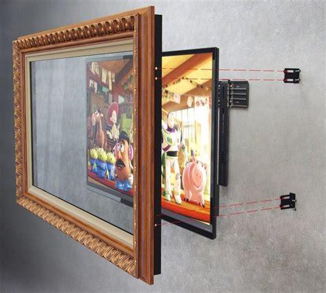 Holz An Der Wand by Holz Bilderrahmen An Der Wand Mit Falachbild Tv Montieren