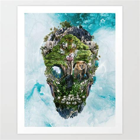 Skull Nature Iii Art Print Rizapeker Society