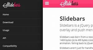 25 free html5 css3 jquery dropdown menus for Html side menu bar template