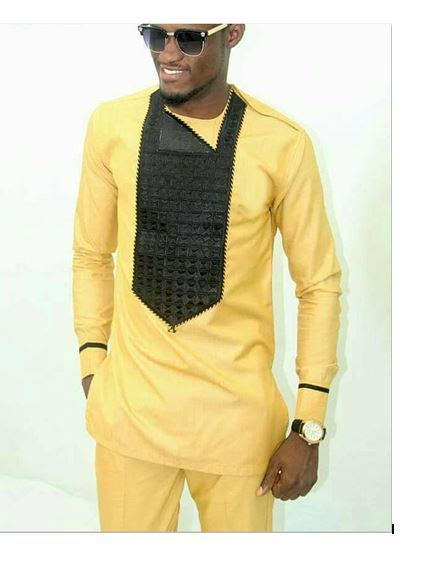 Yellow Native Wear For Men Latest African Design For Men