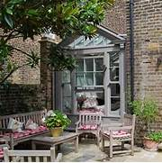 Traditional Garden Room With Adjacent Patio Garden Rooms Lencioni Construction Traditional Patio Pergola Better Decorating Outdoor Patio Traditional With Outdoor Potted Plant Traditional Cottage Garden Traditional Patio Cincinnati By Fullmer 39 S