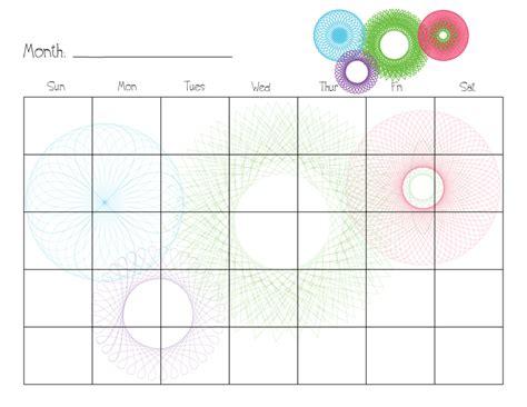 Printable Weekly Homework Calendar Template