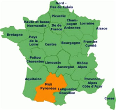 Regions of France Midi Pyrénées