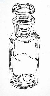 Spice Bottles Coloring Pages Stove Storage sketch template