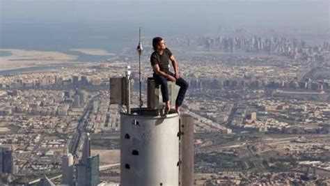 Tom Cruise On Top Of The Burj Khalifa Tallest Building In