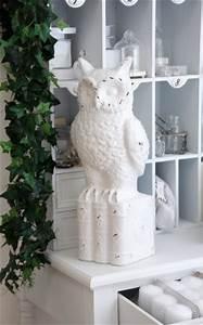 Fensterbank Deko Weihnachten : eule keramik weihnachten deko fensterbank tischdeko wei ~ Lizthompson.info Haus und Dekorationen