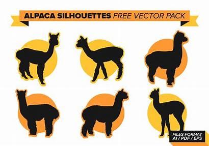 Alpaca Silhouette Llama Pack Alpacas Graphics Vectorified