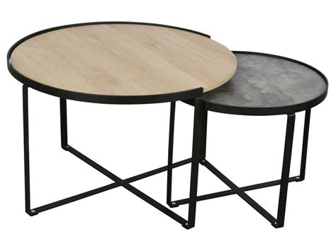 Table Gigogne X2 Opale  Vente De Table Basse Conforama