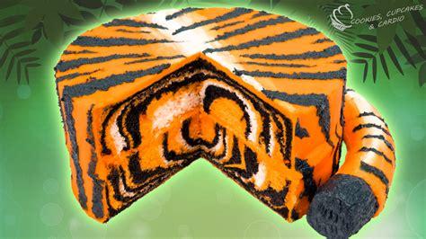 Tigger Birthday Cake Template by Tiger Cake Surprise Inside Animal Print Cake