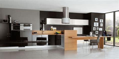 cuisine avec frigo americain integre cuisine du contraste pour un style chic et moderne