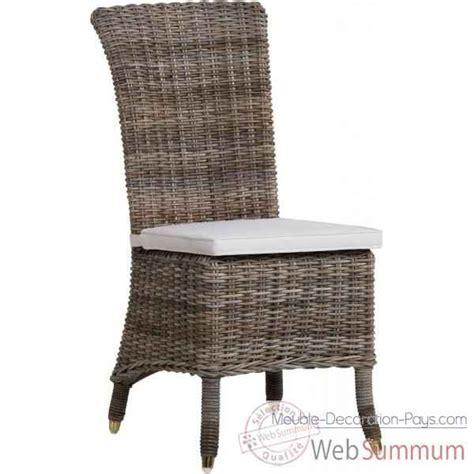 coussin de chaise gris chaise amélie rotin kooboo gris sans coussin kok 1315g de