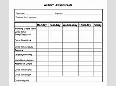 Weekly Lesson Plan 8+ Free Download for Word, Excel, PDF