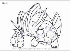 Learn How to Draw Mega Swampert from Pokemon Pokemon