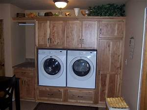 Custom laundry room cabinet storage solutions ds woods for Under cabinet washer and dryer