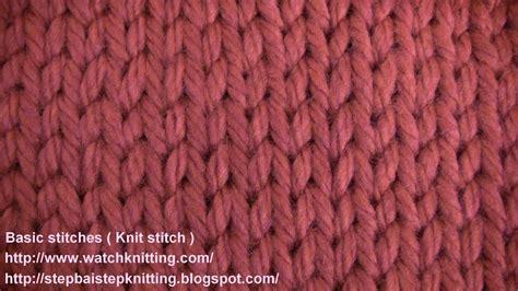 stokinett stitch knit stitch  knitting lesson