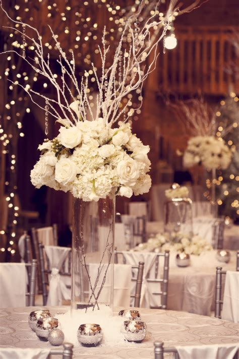 Tall Bling Wedding Centerpiece With Vintage