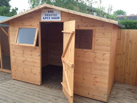 Tongue And Groove Boards For Sheds by 6x4 The Deluxe Apex Shed Tongue And Groove Wooden Shed Ebay