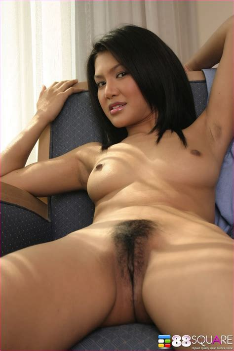 Pretty asian Pussy babe naked In Chair From