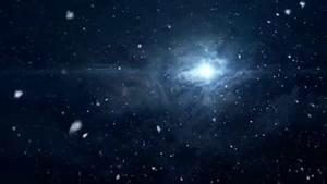 SNOW FALLING - CLOUDY NIGHT SKY - BRIGHT STAR  MOON ...