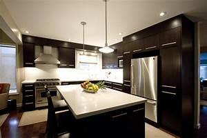 Dark brown kitchen modern kitchen toronto by hot for Modern brown kitchen design