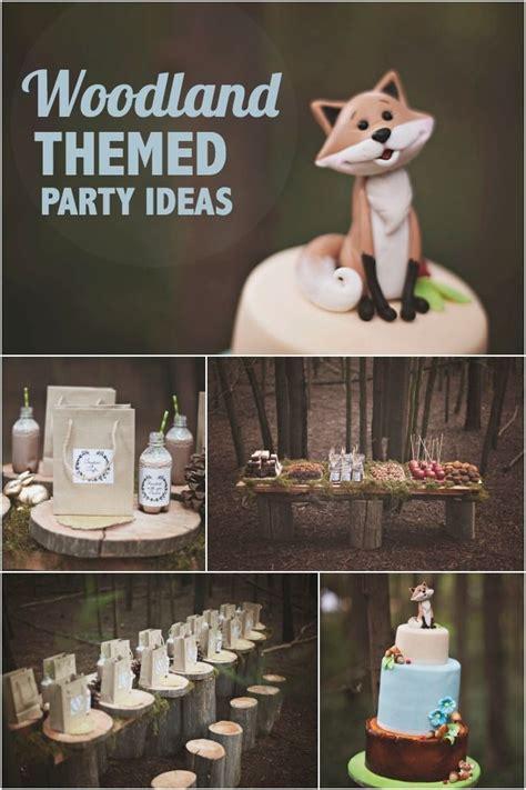 woodland themed birthday party ideas  boys spaceships