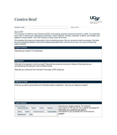 creative brief template 40 creative brief templates exles template lab