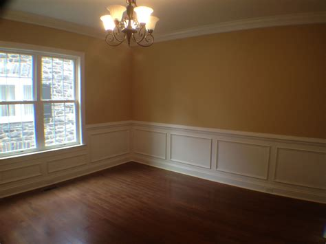 Dining Room With Chair Rail, Shadow Boxing, And Crown