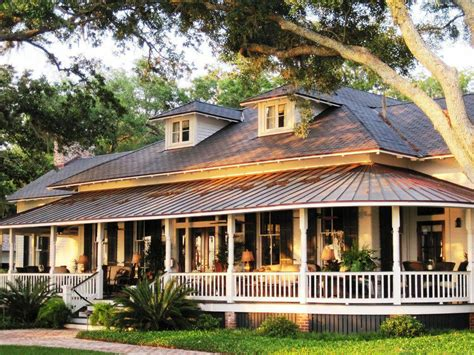 exterior affordable wrap  porch house plans small